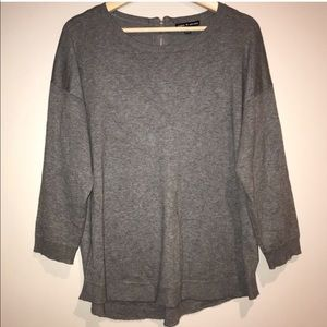 Cable & Gauge Gray Soft Sweater Size Large